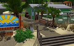 Sims 3 commercial, lot, commercial, architecture, build, sand, sims