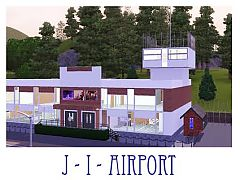 Sims 3 airport, lot, build, community