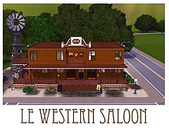 Sims 3 lot, home, salon, architecture, western