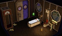 Sims 3 bath, bathroom, furniture, objects, set, steampunk