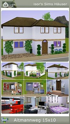 Sims 3 lot, house, residential, building, furniture