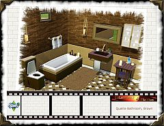 Sims 3 bathroom, furniture, set