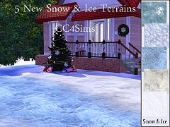 Sims 3 snow, ice terrains, terrain paints