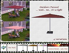 Sims 3 parasol, light, lights, garden