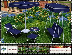 Sims 3  lounge, chair, loveseat, swing, parasol, coffee, table, outdoor, furniture