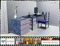 Sims 3  office, desk, chair, end table, furniture, study