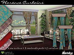 Sims 3 curtains, florence, buy