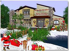 Sims 3 Christmas, house, building, residencial