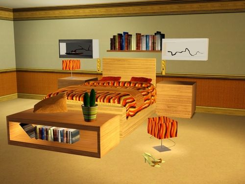 Sims 3 bed, bedroom, furniture, objects, sims 3