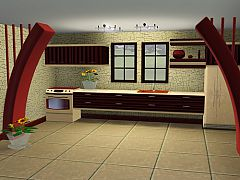 Sims 3 kitchen, table, furniture, objects, sims 3