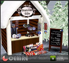 Sims 3 stall, board, decor