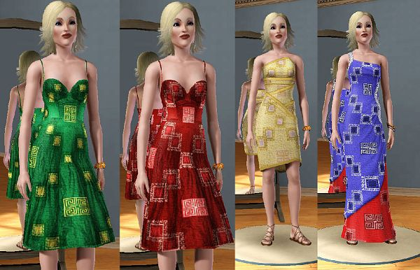 Sims 3 patterns, objects, greek