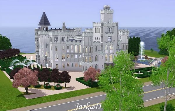 Sims 3 castle, residential, lot, building