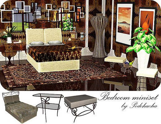 Sims 3 bedroom, furniture, decor