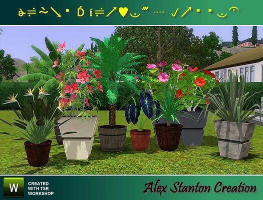 Sims 3 flowers, plants, decorative
