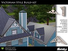 Sims 3 build, objects, roof, victorian