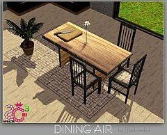Sims 3 dining, chair, table, clutter, furniture, objects, sims 3