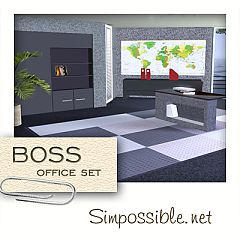 Sims 3 office, bookcase, furniture, sims