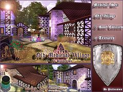 Sims 3 medieval, roofs, residential, lot, buildings, pattern