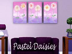 Sims 3 daisies, pastel, paintings
