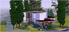Sims 3 lot, design, building, paintings, villa