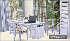 Sims 3 desk, chairs, lamp