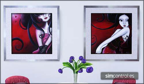Sims 3 fashion, style, city, paintings