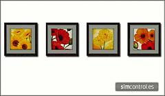 Sims 3 floral, flower, paintings