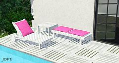 Sims 3 outdoor, garden, furniture, lounger