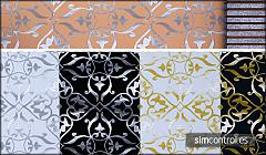Sims 3 gold, silver, patterns, abstract