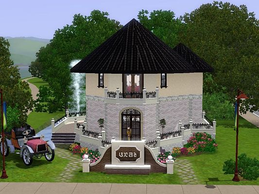 Sims 3 house, build, residential, lot, castle