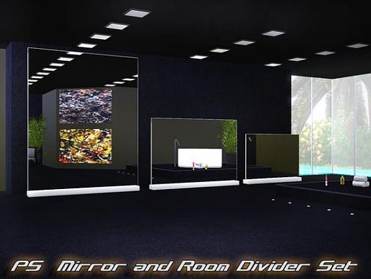 Sims 3 set, decor, objects, mirror