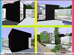 Sims 3 club, commercial, bar, buildings
