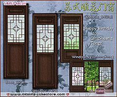 Sims 3 door, window, build