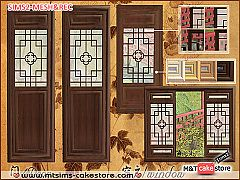 Sims 3 door, window, build, chinese