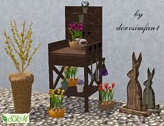 Sims 3 flowers, decor, plants, objects