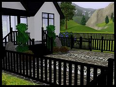 Sims 3 gates, stairs, roof, railing