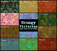 Sims 3 pattern, grungy, tile, seamless, texture, victorian