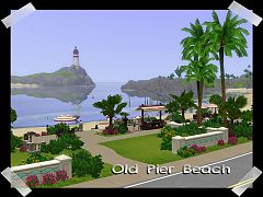 Sims 3 beach, lot, community