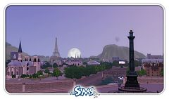 Sims 3 world, paris, buildings