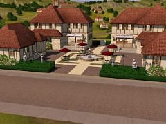 Sims 3 lot, commercial, france