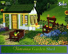 Sims 3 garden shed, potting table, desk, wheelbarrow, herbs