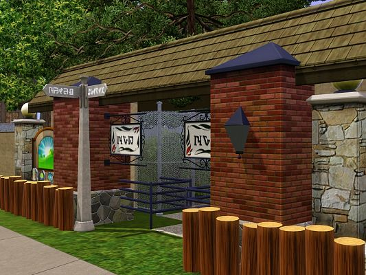 Sims 3 zoo, lot, community