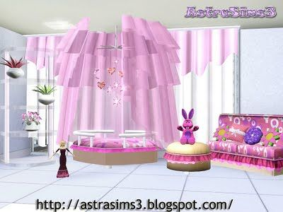 Sims 3 room, kids, furniture, objects, decor