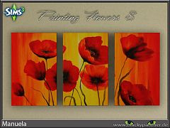 Sims 3 paintings, decor, flowers
