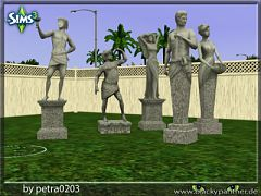 Sims 3 decor, statues, garden