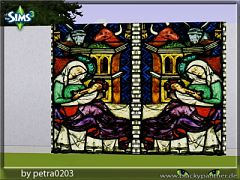 Sims 3 decor, stained, glass, church
