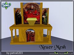 Sims 3 church, clutter, cross, altar