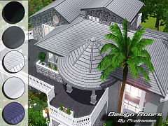 Sims 3 roofs, build, objects