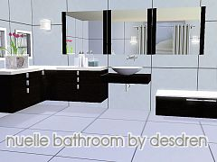 Sims 3 table, towel, paper, lotions, mirror, bathtub, sink, toilet, counter